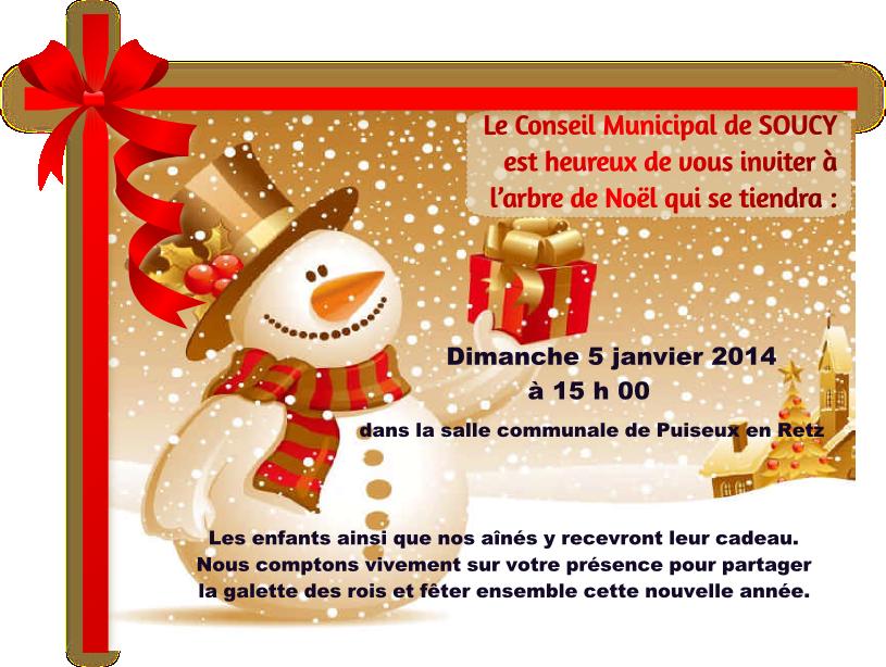 Arbre de Noel de la Mairie de Soucy